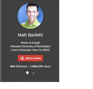Matts google plus page